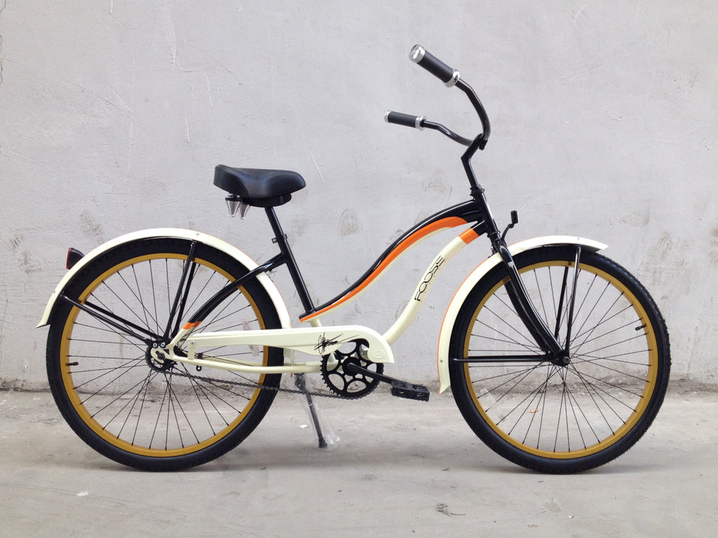 "Foose 26"" Hot Rod Beach Cruiser Single-Speed Bike (Step through) Womens"