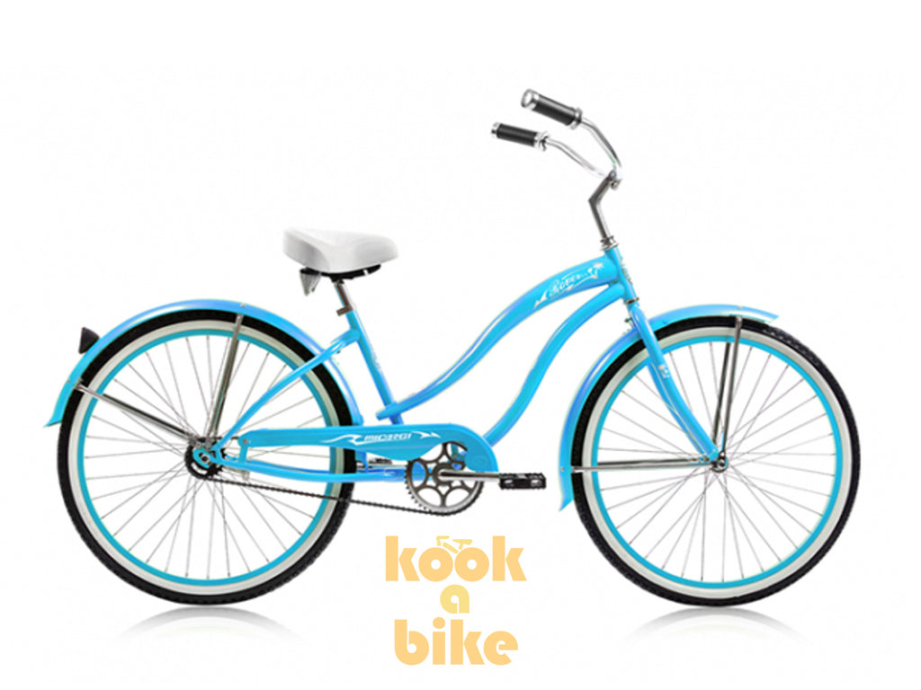 "Micargi 26"" Rover GX Beach Cruiser Single-Speed Bike(Baby Blue)Womens - kookabike - 1"