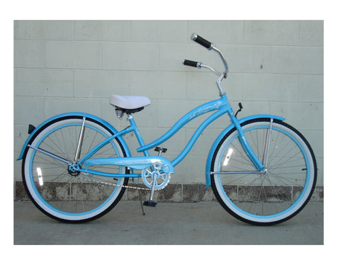 "Micargi 26"" Rover GX Beach Cruiser Single-Speed Bike(Baby Blue)Womens"