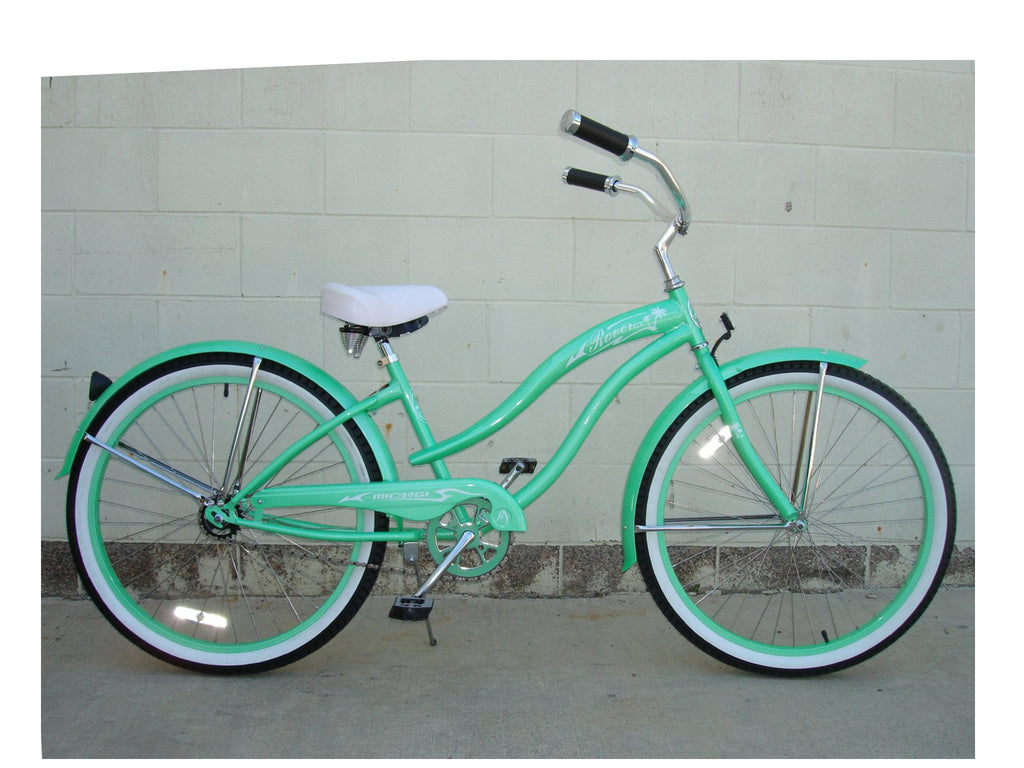 "Micargi 26"" Rover GX Beach Cruiser Single-Speed Bike(Mint Green)Womens - kookabike - 1"