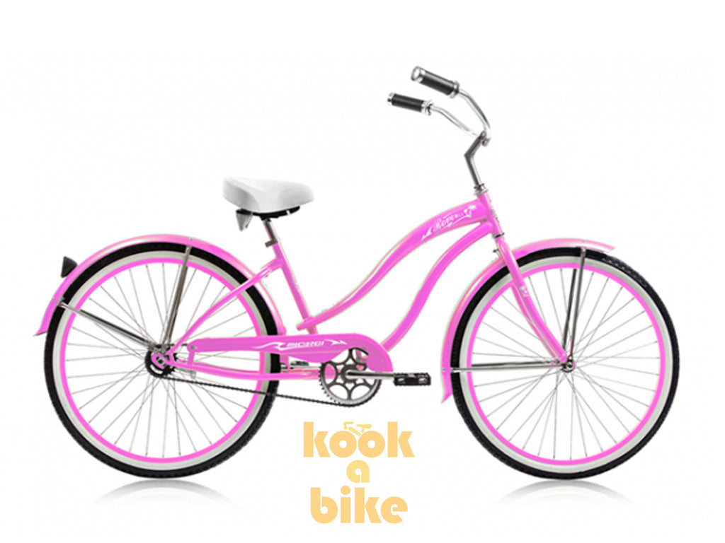 "Micargi 26"" Rover GX Beach Cruiser Single-Speed Bike(Pink)Womens - kookabike - 1"