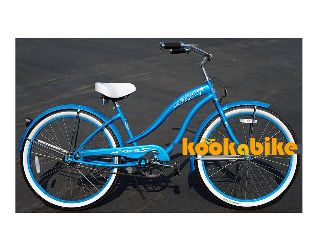 "Micargi 26"" Rover GX Beach Cruiser Single-Speed Bike(Turquoise)Womens - kookabike - 1"