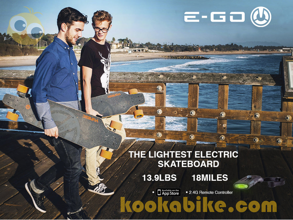Yuneec E-GO Electric Skateboard w/Remote Control-FAST, FREE shipping from USA - kookabike - 1
