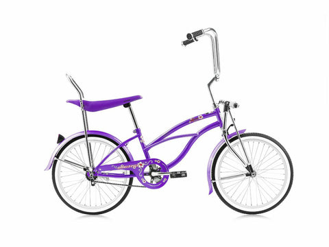 "Micargi Hero 20"" Lowrider Retro Kids' Bike (People-Eating Purple)"
