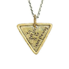 Africa Triangle Traveller's Coin Necklace - To Get Lost Is To Learn The Way