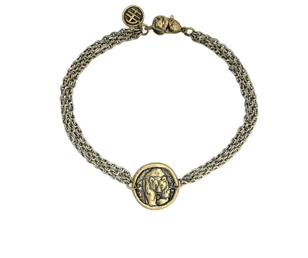 Fearlessness Bear Protection Bracelet in Bronze