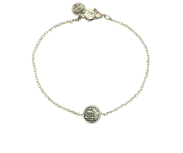 Buddha Mini Protection Bracelet in Sterling Silver