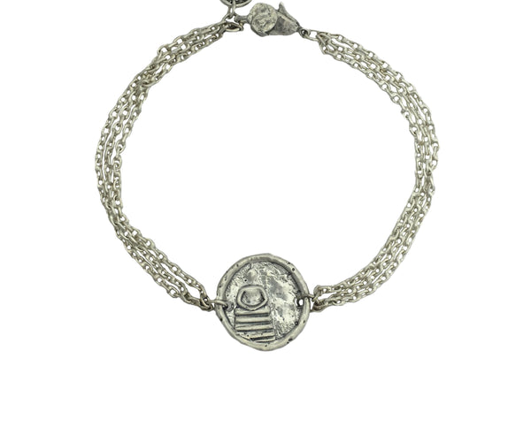 Inner Peace Buddha Protection Bracelet in Sterling Silver
