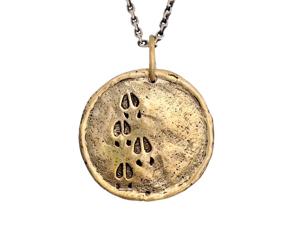 Buffalo Traveller's Coin in Bronze | Handcrafted Necklace | Made in Bali