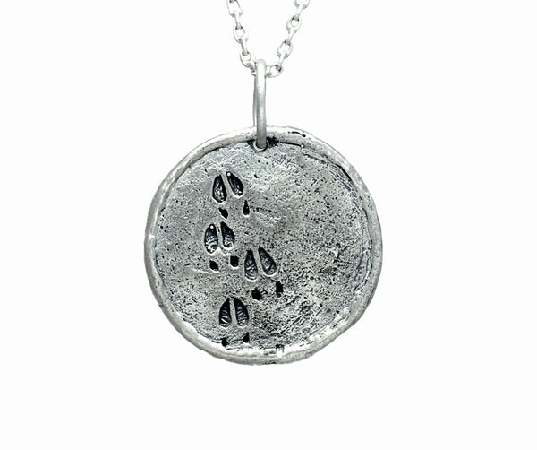 Buffalo Traveller's Coin in Sterling Silver | Handcrafted Necklace | Made in Bali