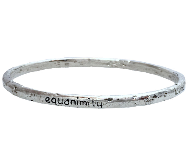 Compassion Bangle in Sterling Silver | Handcrafted Jewelry | Made in Bali