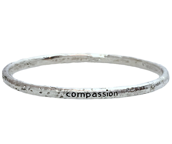 Compassion Bangle in Sterling Silver