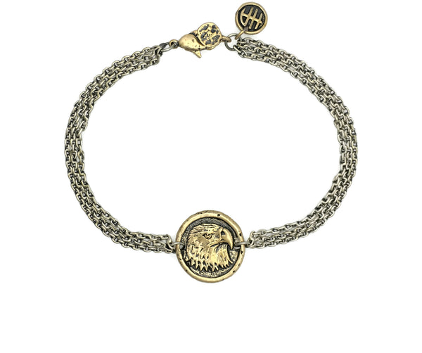 Freedom Eagle Protection Bracelet in Bronze