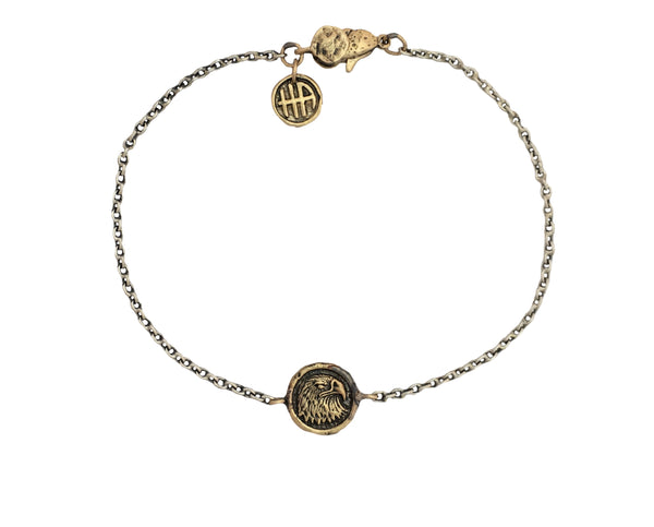 Personal Power Eagle Mini Protection Bracelet in Bronze