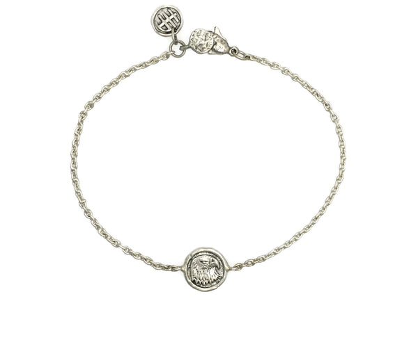 Personal Power Eagle Mini Protection Bracelet in Sterling Silver
