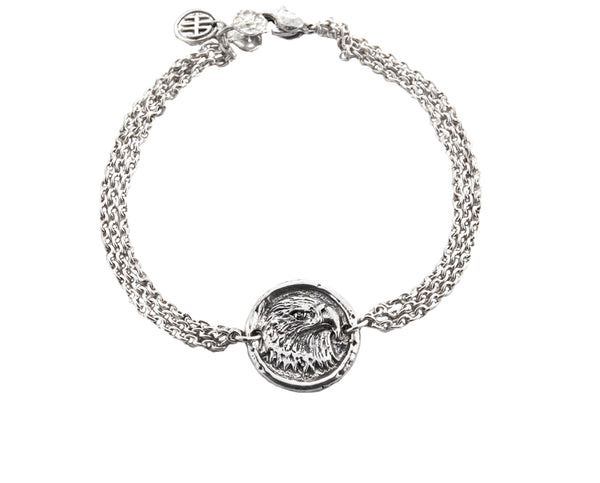 Freedom Eagle Protection Bracelet in Sterling Silver