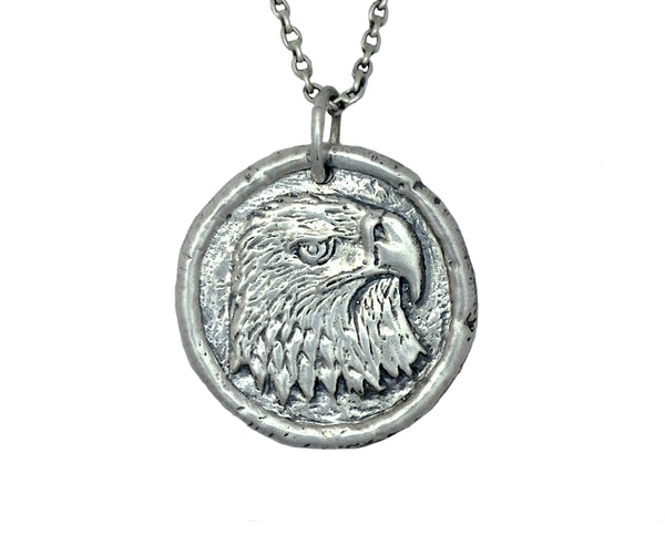 FREEDOM Eagle Traveller's Coin Necklace in Sterling Silver