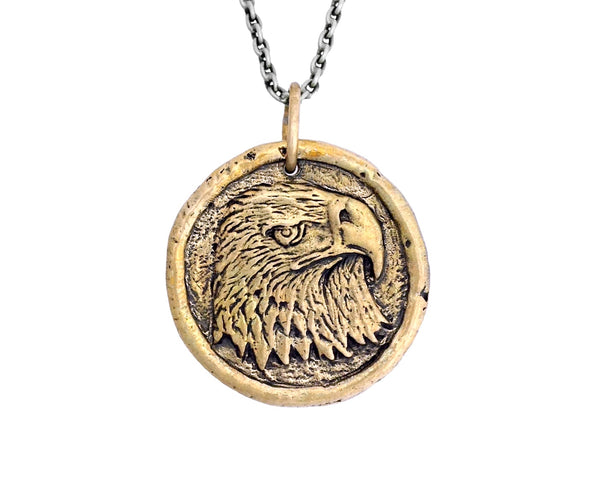 FREEDOM Eagle Traveller's Coin Necklace in Bronze