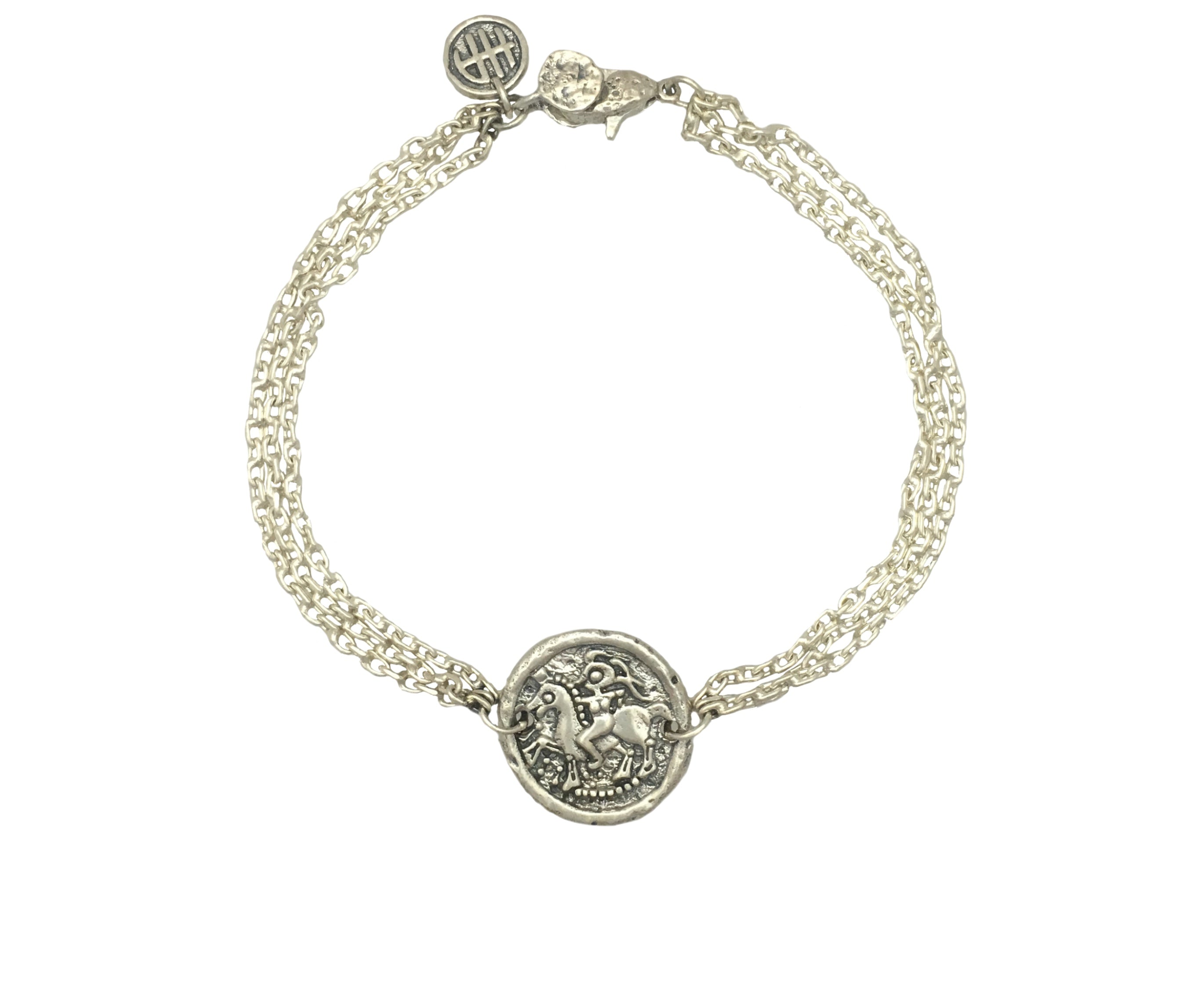 Bracelets - Girl On Horse Protection Bracelet in Sterling Silver | Handcrafted | Made in Bali