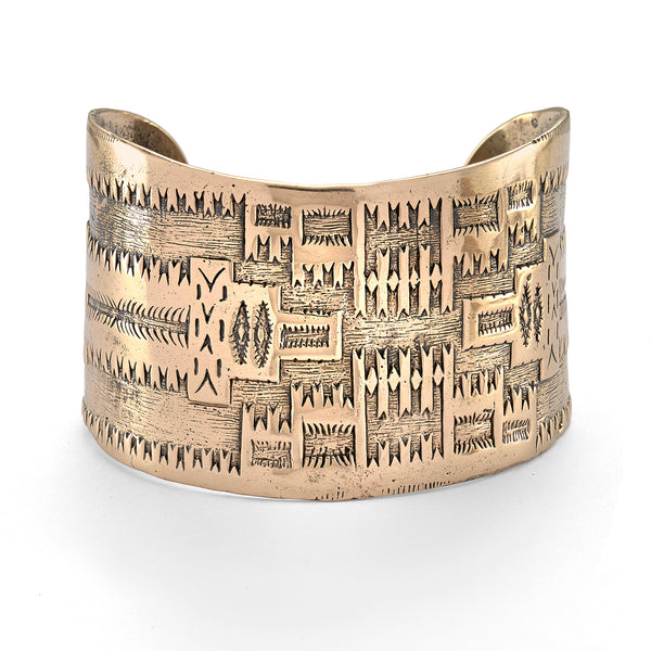 All Around Me Peaceful Cuff Bracelet in Bronze