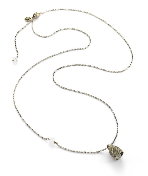 Happiness Grompol Protection Bell Necklace with Clear Quartz