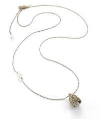 Power, Strength & Courage Parang Protection Bell Necklace with Clear Quartz