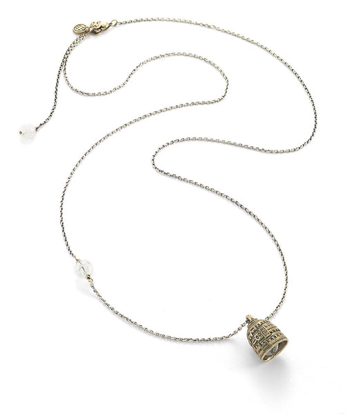 Peace Protection Bell Necklace with Clear Quartz