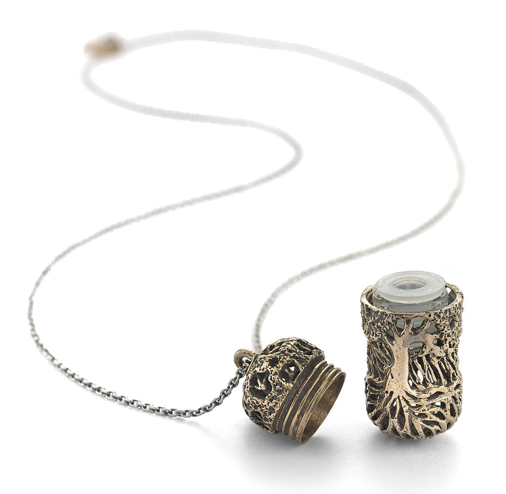 Tree of Life Filigree Essential Oil Capsule