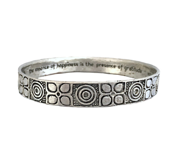 "Happiness ""Grompol"" Batik Bangle in Sterling Silver"