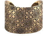 Bracelet - Grompol Happiness Batik Cuff Bracelet in Bronze | Handcrafted Jewelry | Made in Bali