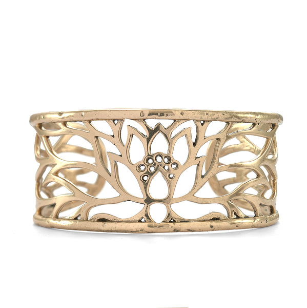 Lotus Cuff in Bronze