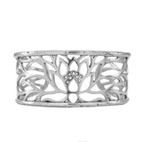 Lotus Cuff Bracelet in Sterling Silver | Handcrafted Jewelry | Made in Bali