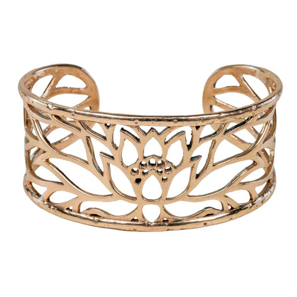 Lotus Cuff Bracelet in Bronze | Handcrafted Jewelry | Made in Bali