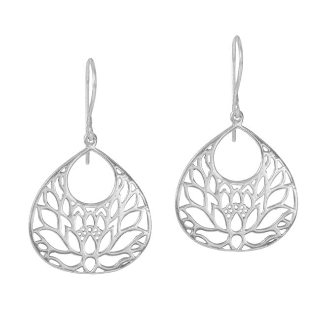 Lotus Earrings in Sterling Silver | Handcrafted Jewelry | Made in Bali