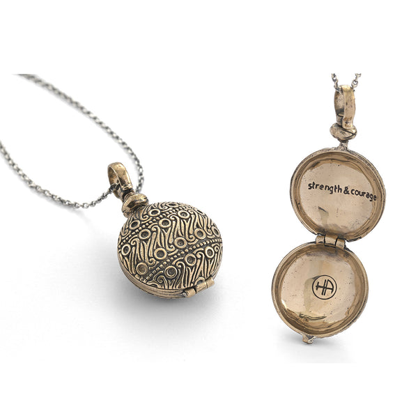 Strength and Courage Locket Necklace