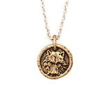 Small Wolf Traveller's Coin Necklace in Bronze | House of Alaia | Made in Bali