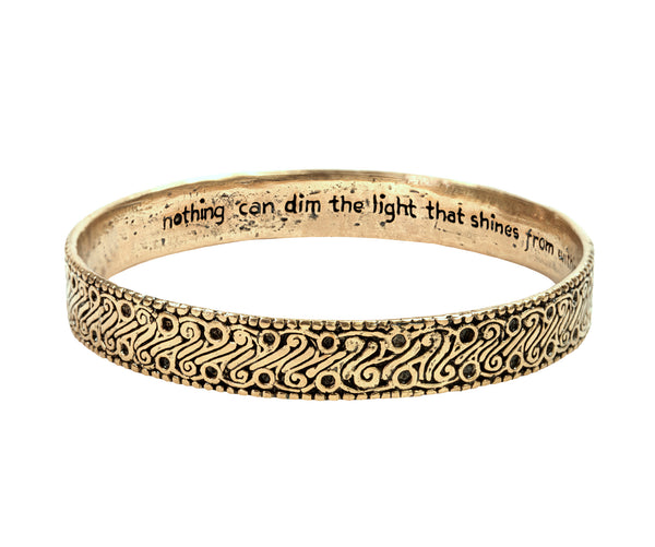 Bracelet - Parang Power Strength and Courage Batik Bangle Bracelet in Bronze | Handcrafted Jewelry | Made in Bali