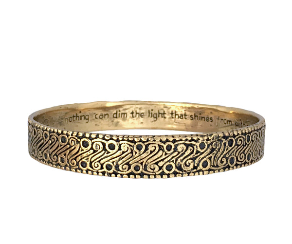 "Power, Strength, and Courage ""Parang"" Batik Bangle in Bronze"