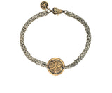 Strength and Courage Coin Protection Bracelet in Bronze and Silver | Handcrafted Jewelry