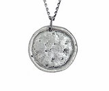 Sugar Skull Traveller's Coin Necklace in Sterling Silver | House of Alaia | Made in Bali