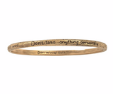 "The Four Agreements ""Reminder Bangle"" Bronze"