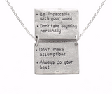 The Four Agreements Book Necklace in Sterling Silver | House of Alaia | Handcrafted Jewelry | Made in Bali