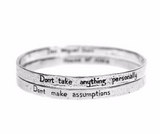 The Four Agreements Double Bangle Set in Sterling Silver | House of Alaia | Handcrafted Jewelry | Made in Bali