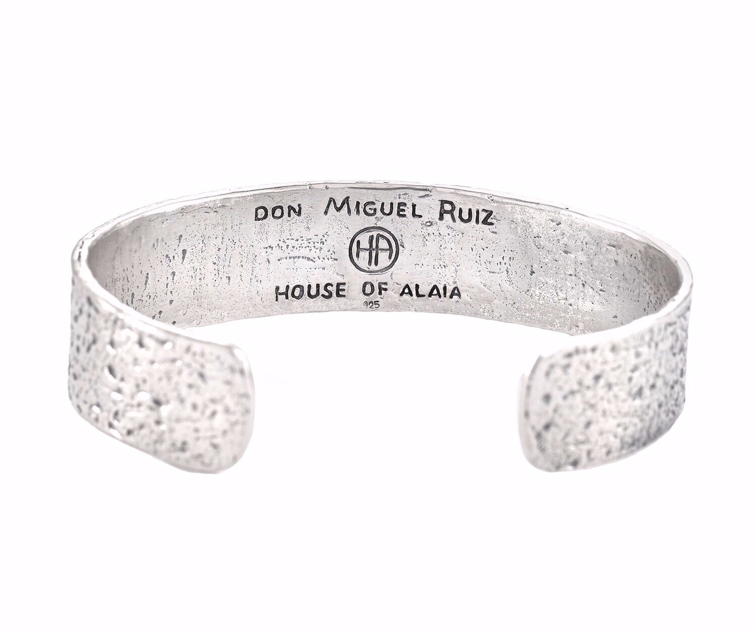 The Four Agreements Cuff in Sterling Silver | House of Alaia | Handcrafted Jewelry | Made in Bali