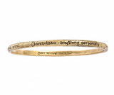The Four Agreements Single Bangle in Brass | House of Alaia | Handcrafted Jewelry | Made in Bali