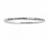 The Four Agreements Single Bangle Sterling Silver