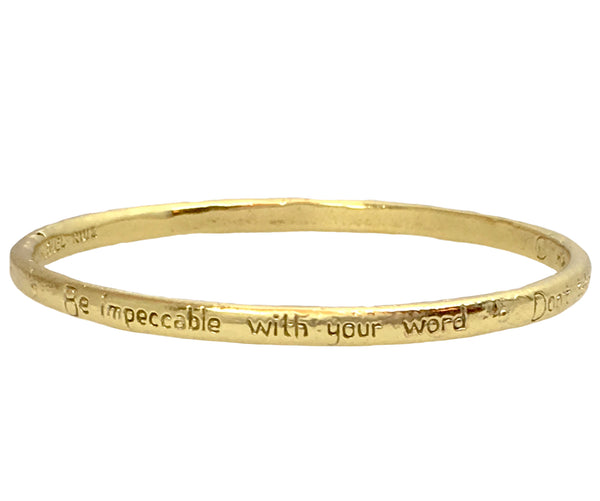 "The Four Agreements ""Reminder Bangle"" Brass"