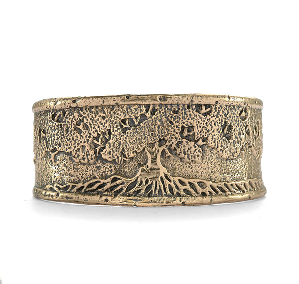 Tree of Life Cuff in Bronze