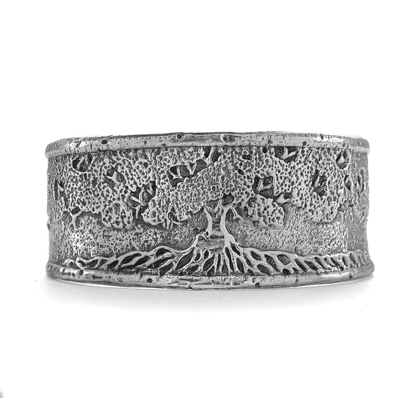 Tree of Life Cuff in Sterling Silver