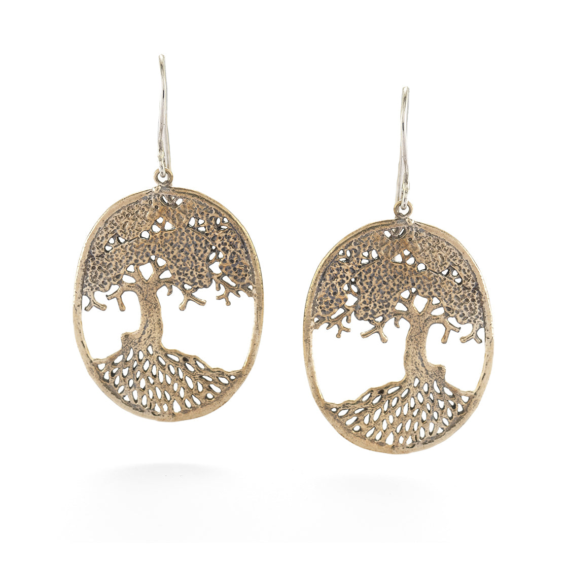 Tree of Life Earrings in Bronze | Handcrafted Jewelry | Made in Bali